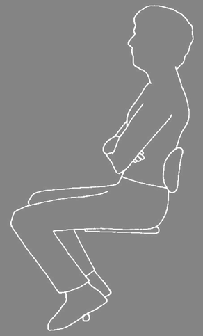 Arm support & armrest design. Graphic from Corlett & Eklund (1984)